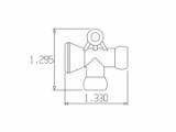 Фото № 2 45416 – T-образный переходник кислотоустойчивый 1/4″ - для системы подачи СОЖ с доставкой по России от LocLine.spb.ru