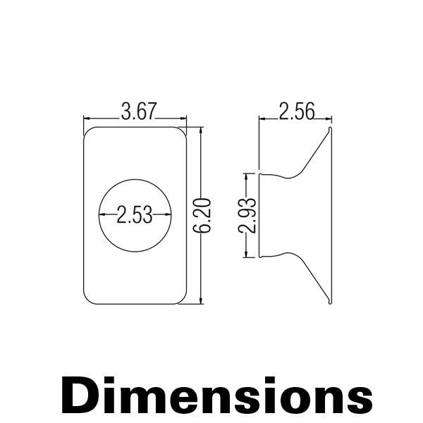 Фото № 2 89324AS - Антистатический прямоугольный наконечник 152х89 мм - комплект из 10 шт - для системы подачи СОЖ с доставкой по России от LocLine.spb.ru