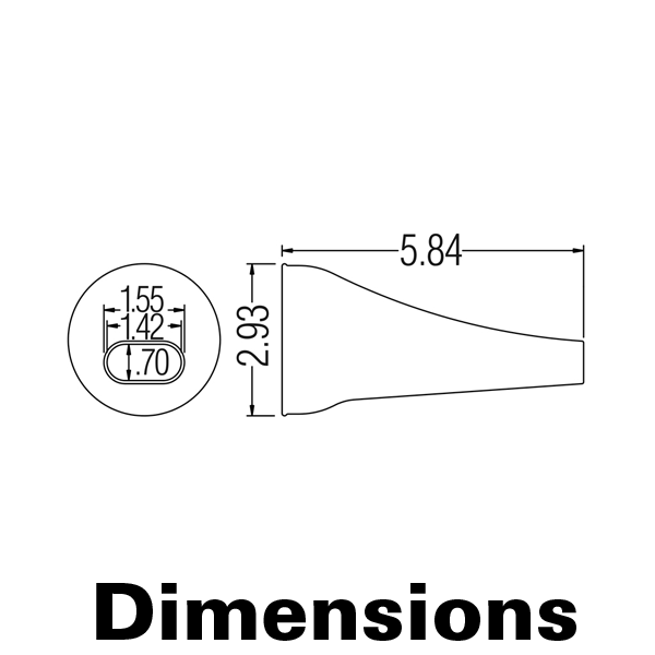 Фото № 1 89325AS - Антистатический конусовидный овальный наконечник - комплект из 10 шт - для системы подачи СОЖ с доставкой по России от LocLine.spb.ru