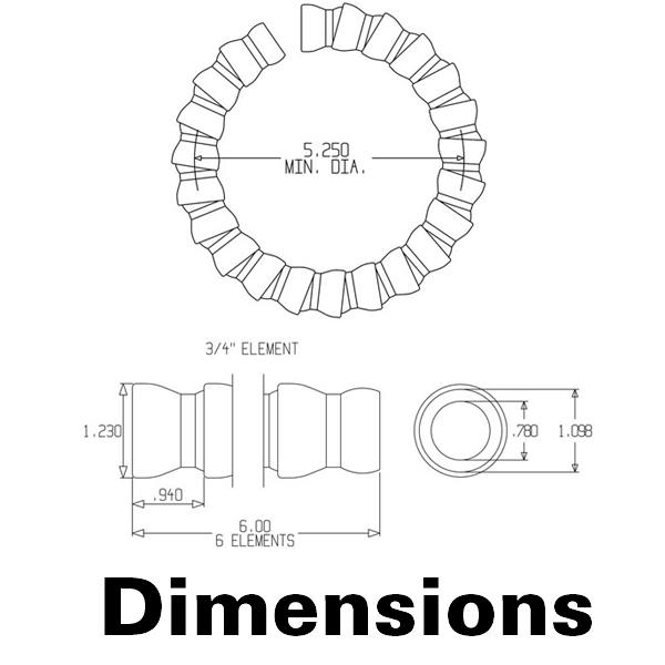 Фото № 2 61501 - Трубка для систем 3/4″ - 2 сегмента по 14 см - для системы подачи СОЖ с доставкой по России от LocLine.spb.ru