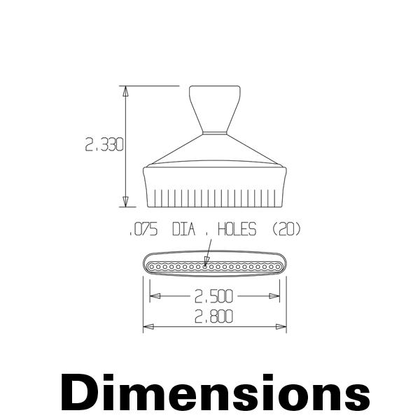 """Фото № 2 51845 - Плоский наконечник 1/2"""" с 20 соплами диаметром 1,9 мм - комплект из 2 шт - для системы подачи СОЖ с доставкой по России от LocLine.spb.ru"""
