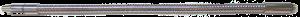 """003301 - Шланг для СОЖ 525 мм с форсункой никелированный 1/4"""""""