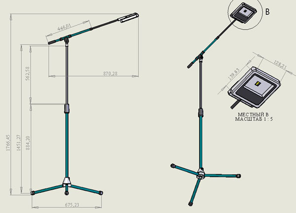 Фото № 2 11-28 - Светодиодный прожектор ALV-11 - для системы подачи СОЖ с доставкой по России от LocLine.spb.ru
