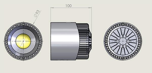 Фото № 7 32 - Светодиодный лабораторный светильник AL32 на штативе - для системы подачи СОЖ с доставкой по России от LocLine.spb.ru