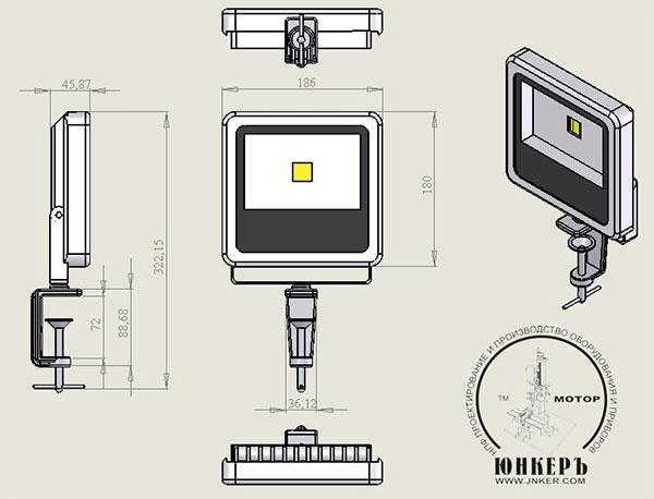 Фото № 4 22 - Светодиодный станочный прожектор ALR-22 - для системы подачи СОЖ с доставкой по России от LocLine.spb.ru