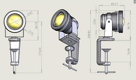 Фото № 4 1-1 - Светодиодный универсальный светильник AF-1 - для системы подачи СОЖ с доставкой по России от LocLine.spb.ru
